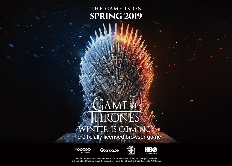 外媒:游族网络将于2019年春季全球发行《权力的游戏》改编游戏