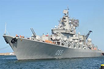 俄055万吨大舰访非 将在大西洋进行战斗训练