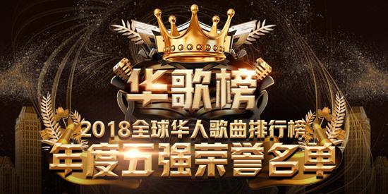 2018全球华人歌曲排行榜 年度五强名单公布