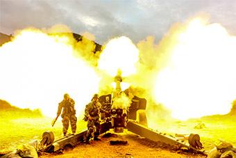 炮兵部队高原峡谷跨昼夜高强度实兵演习