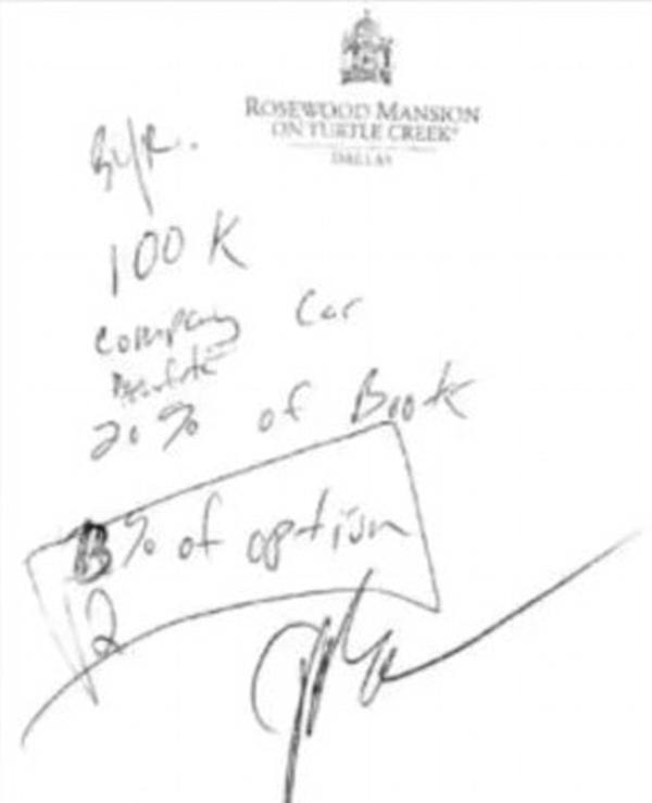 鸡尾酒餐巾纸背后签协议 男子获赔百万美元