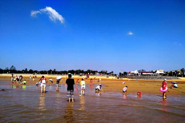 山东日照:暑期已接近尾声 小朋友海边沙滩放飞心情