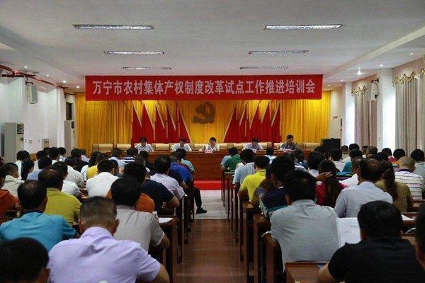 万宁举办农村集体产权制度改革试点工作推进培训会
