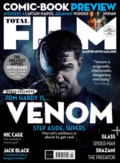 汤姆·哈迪登封面 半人半毒成最大焦点