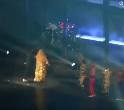 碧昂丝夫妇演唱会上遭一醉酒粉丝冲击