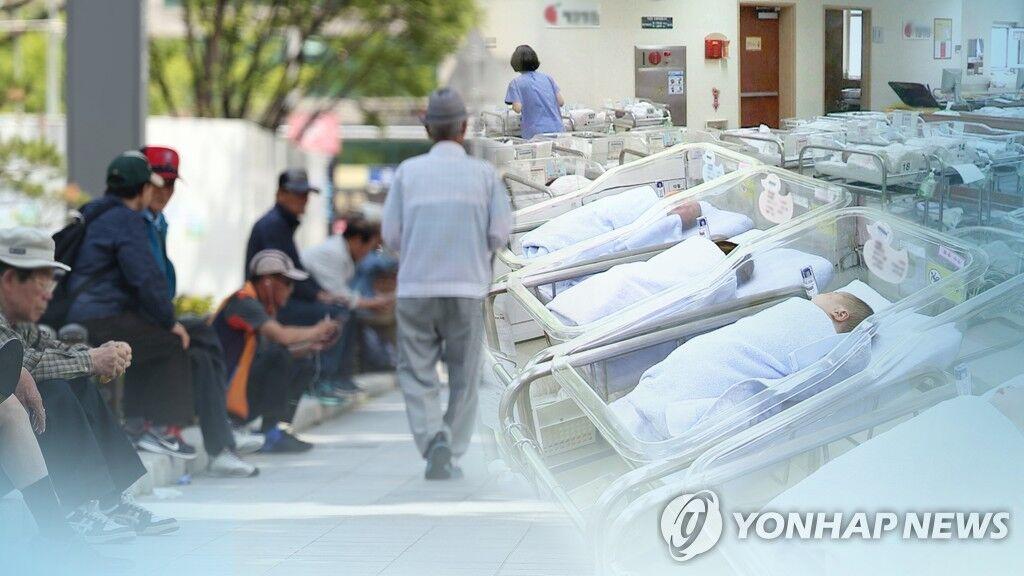 """调查显示韩国超高速进入""""老龄社会"""",比日本的过渡时间还快7年"""