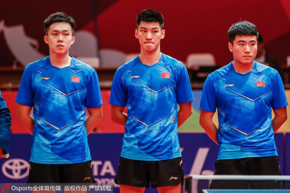 樊振东休战国乒男队3-0老挝 四连胜小组第一出线