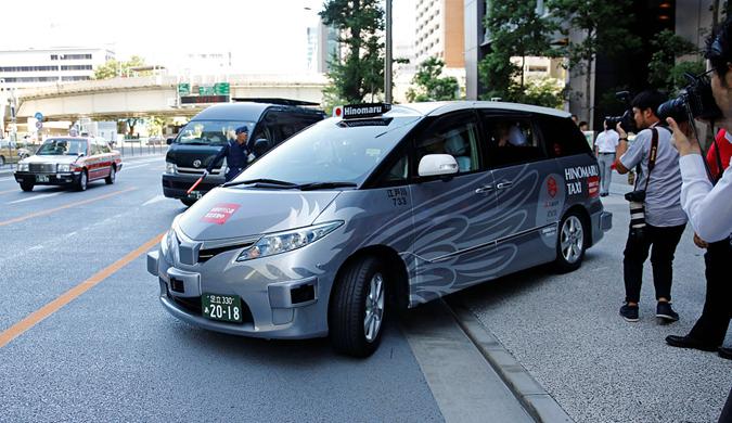 日本测试无人驾驶出租车:为奥运做准备