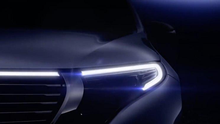 奔驰发布EQC纯电动SUV预告片 或将下周正式亮相