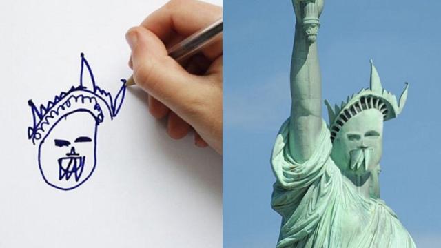 """奇妙!英父亲运用P图术让儿童画""""活起来"""""""