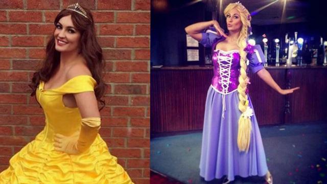 英全职妈妈扮演迪士尼公主 形象逼真连孩子都认不出