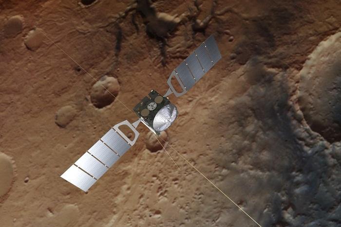 雷达图揭示了火星南极地下水层的样子