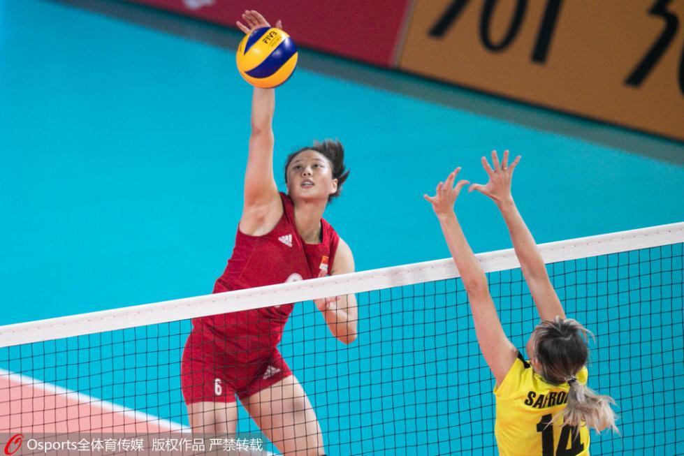 龚翔宇16分中国女排3-0横扫菲律宾 进四强战日本