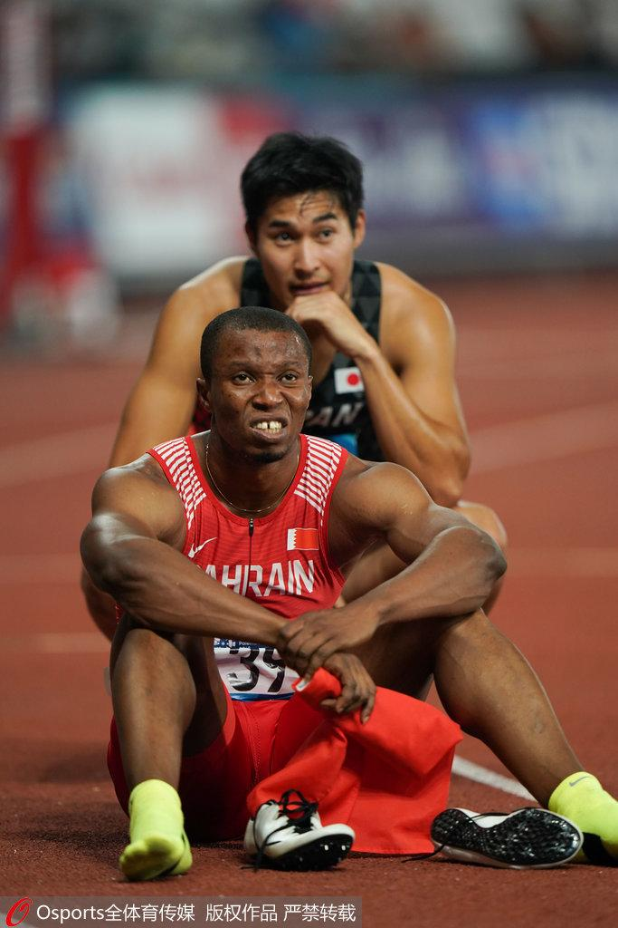 男子200米两人同时撞线 日本人夺冠中国台北摘银