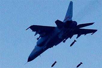 和平使命演习正式打响 飞豹战机对地狂轰滥炸