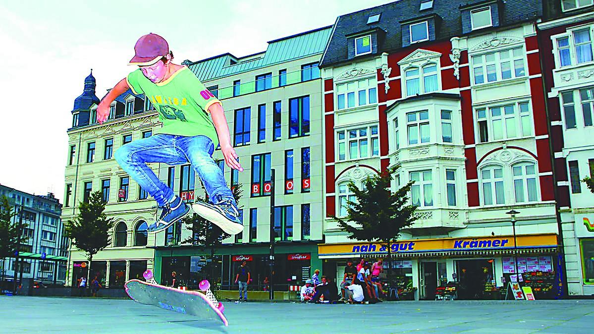 青少年,德国城市广场主角