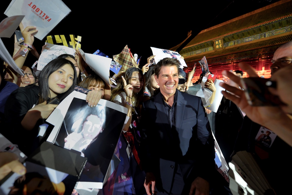 《碟中谍6:全面瓦解》中国首映 男神齐聚太庙
