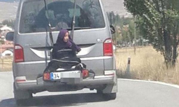 土耳其一父亲将13岁女儿绑车后驾驶 被警方拘留
