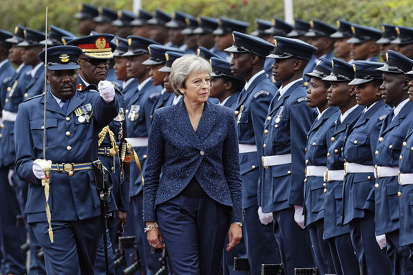 英国首相30年来首次访问肯尼亚