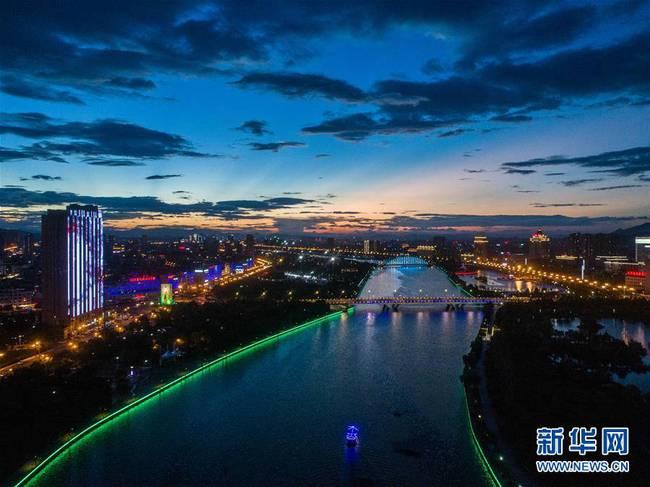 浙江东阳:扮靓城市夜景 打造城市新景观
