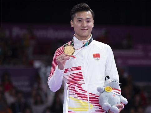 男子蹦床中国双保险揽冠亚 董栋亚运三连冠