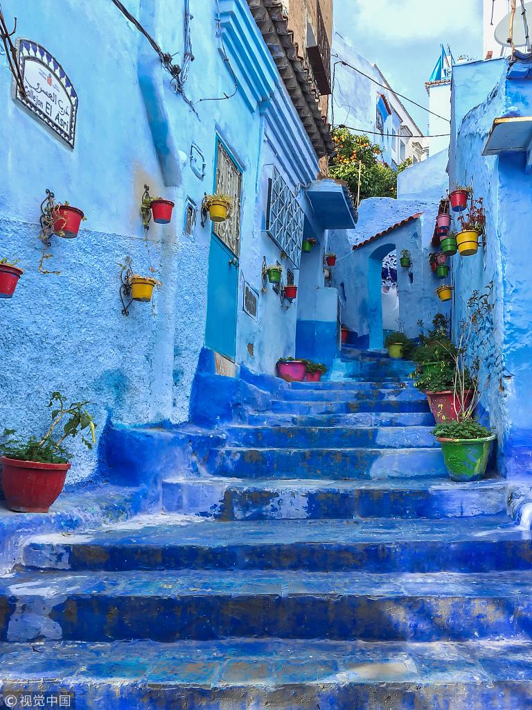"""""""蓝色迷城""""舍夫沙万 摩洛哥的梦境之城"""