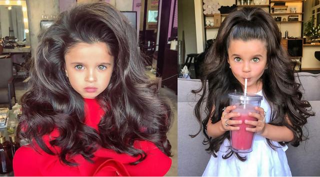 以色列五岁女孩因傲人秀发走红网络 其母却遭指责