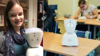 远程监控机器人帮助孩子重新回归课堂