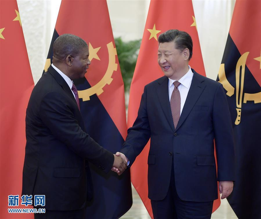 (中非合作论坛)习近平会见安哥拉总统洛伦索