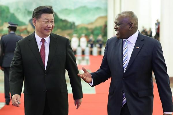 习近平同博茨瓦纳总统马西西举行会谈