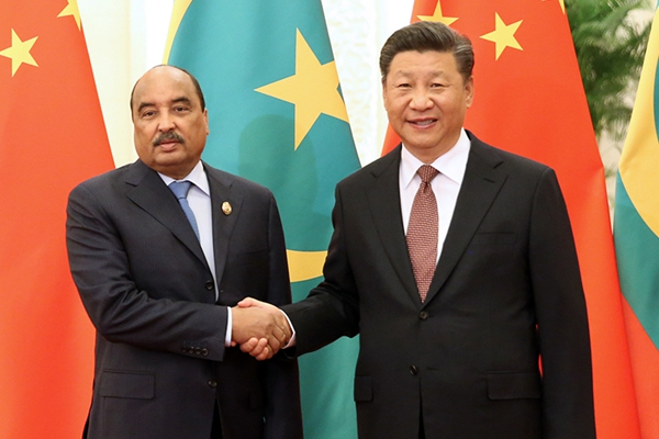 习近平会见毛里塔尼亚总统阿齐兹
