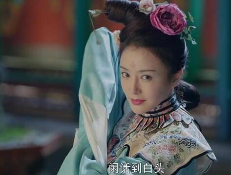 头戴牡丹花的明星,刘亦菲如花神,秦岚是真洛神