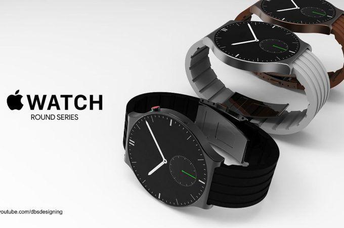 最新概念Apple Watch曝光: 圆形设计机身更薄