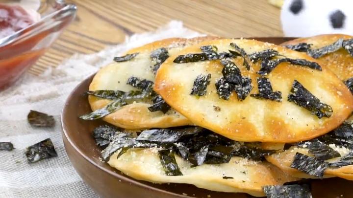 饺子皮变身芝士脆饼,10分钟变身绝赞的看球小零食