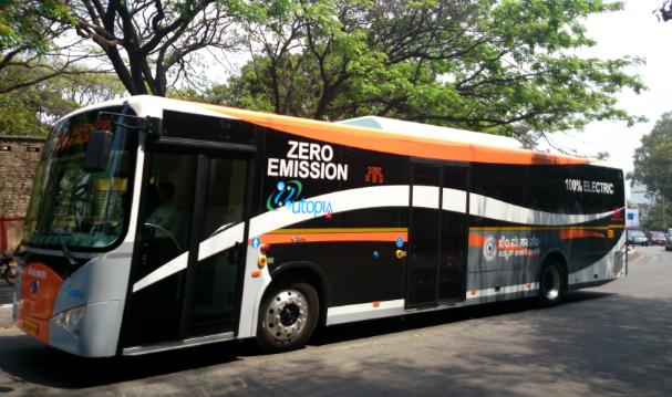 比亚迪K9电动巴士在印度海得拉巴投入运营