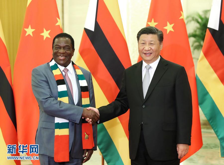 习近平会见津巴布韦总统姆南加古瓦