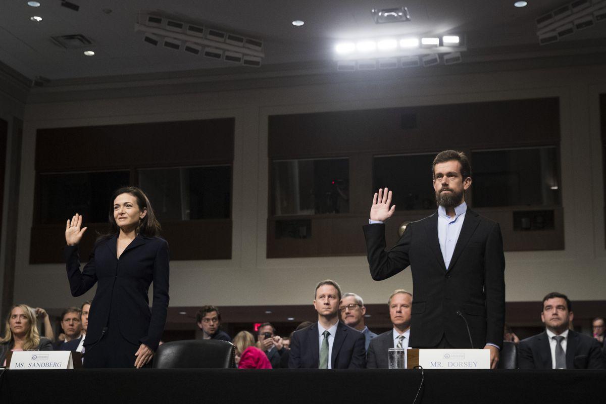 FB推特高管出席美国会听证会 承诺尽力打击假消息
