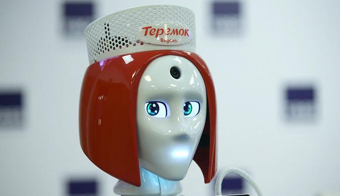 """俄一快餐店将""""雇用""""机器人前台 但造型略惊悚"""