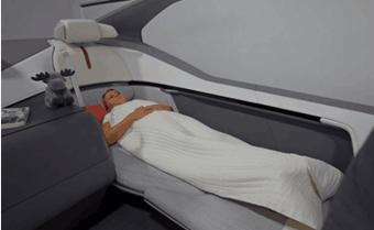 """""""可躺着睡觉""""的自动驾驶概念车发布"""