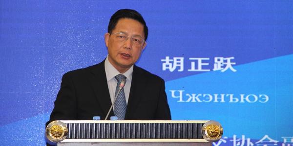 中国公共外交协会副会长胡正跃在论坛开幕式上进行致辞
