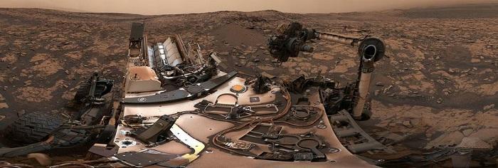 好奇号眼中的火星沙尘暴什么样?请看这张照片