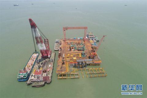 粤港澳大湾区又一跨海通道主桥开建