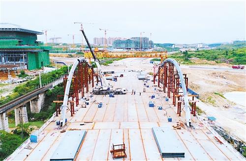 贵州首座装配式大桥主体完工
