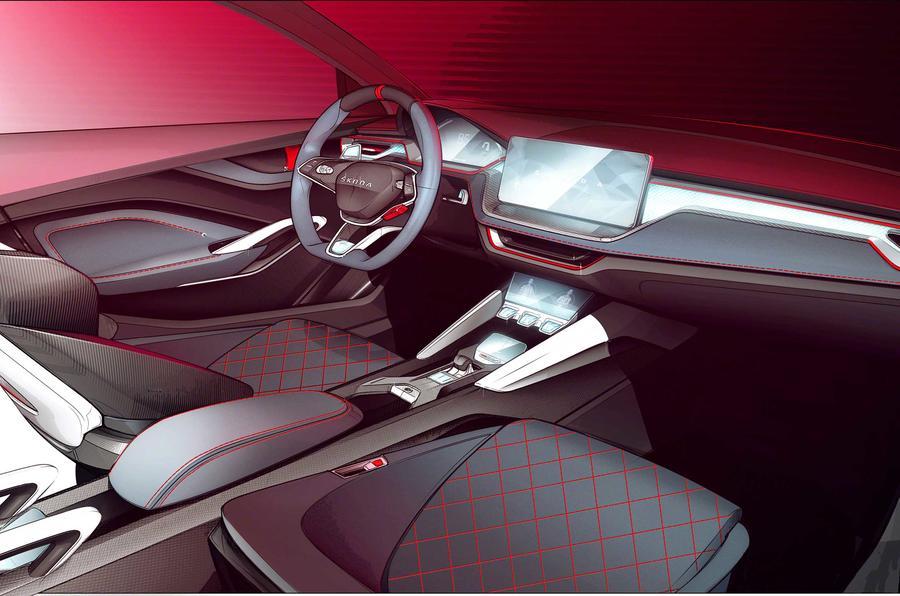 斯柯达发布Vision RS概念车内饰图 将亮相巴黎车展