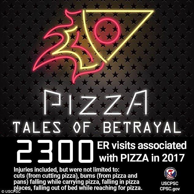 """披萨引美国吃货""""竞折腰""""上千美国人因吃披萨受伤"""