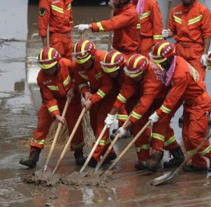 山东寿光水灾排水排涝接近尾声 增援力量陆续撤离