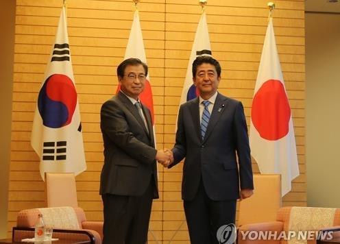 安倍会见韩国特使 称希望与金正恩直接对话