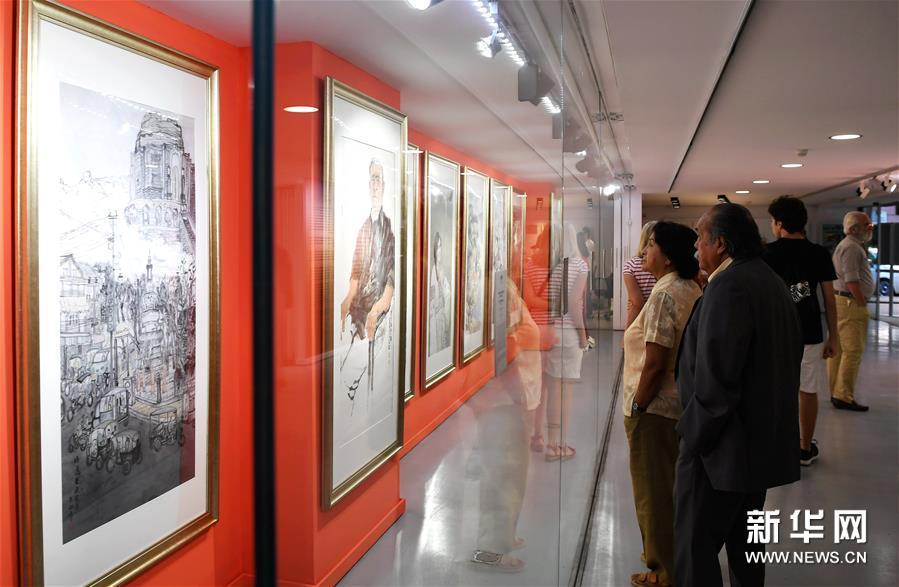"""""""艺术与和平——中国当代美术作品展""""在西班牙举行"""