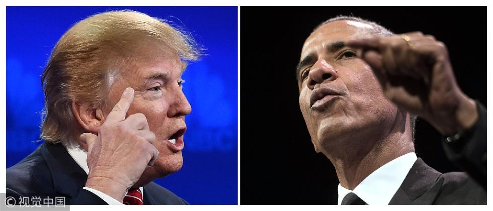 """特朗普奥巴马隔空互怼 这次是因为一根""""魔杖"""""""