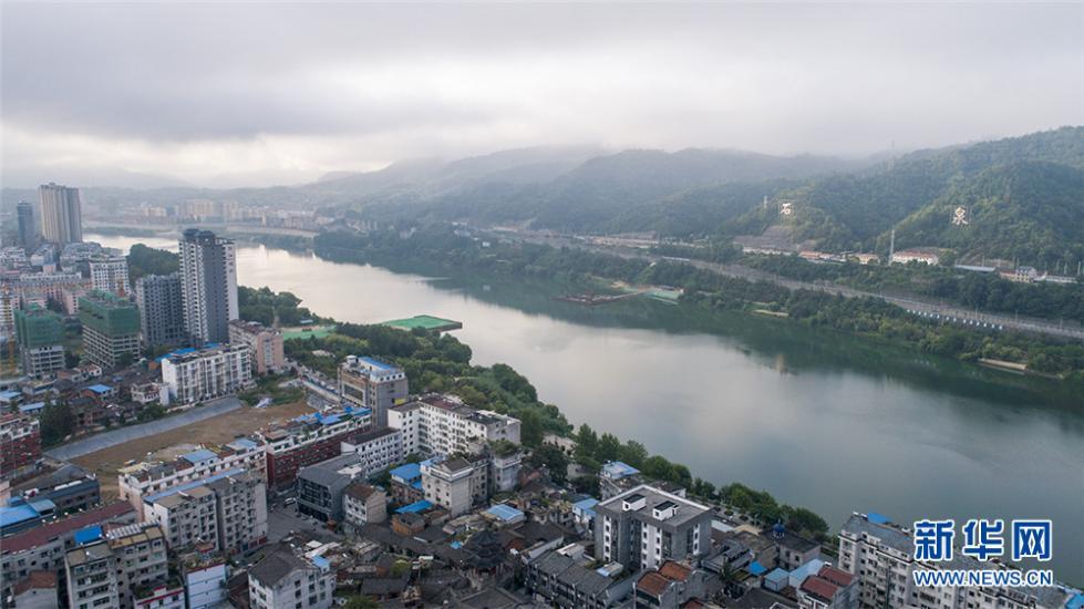 陕西石泉:航拍镜头下的水墨晨景